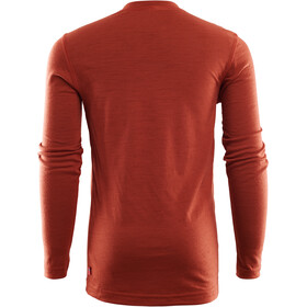 Aclima LightWool T-shirt à col ras-du-cou manches courtes Enfant, red ochre